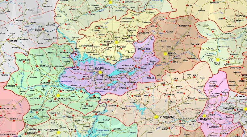 Elazığ Haritaları